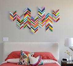 Cool Creative DIY Wall Art Ideas | Easy Home Decor Ideas, check it out at http://diyready.com/20-cool-wall-art-ideas/