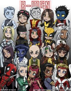 X-Men Chibis by Zyephens-Insanity.deviantart.com on @deviantART