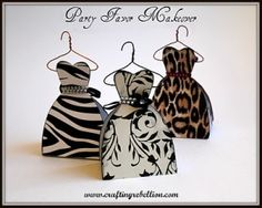Dress Party Favor box makeover by ^ kristen ^