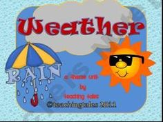 A great weather unit for primary students including a mini-book!