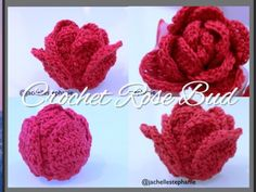 How To Crochet Rosebud (Crochet Flower #18)