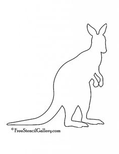 Kangaroo Silhouette Stencil Silhouette Design, Vogel Silhouette, Silhouette Cameo, Dragon Silhouette, Wolf Silhouette, Kangaroo Drawing, Aboriginal Art For Kids, Aboriginal Art Animals, Australia Crafts