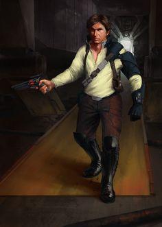 Star Wars Reimagined: Han Solo, Adam Dawidowicz on ArtStation at https://www.artstation.com/artwork/v9eNx