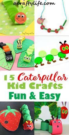 caterpillar Kid Crafts - bug kid craft - insect kid craft acraftylife.com #kidscrafts #craftsforkids #preschool Ladybug Crafts, Bee Crafts, Butterfly Crafts, Crafts To Do, Nature Crafts, Craft Activities For Kids, Preschool Crafts, Kids Crafts, Craft Projects
