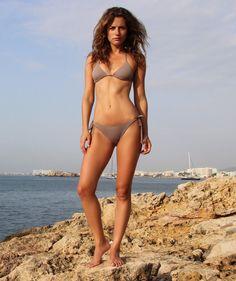 Grey Triangle Bikini Set by BeachHeartSwimwear on Etsy