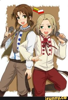Lithuania and Poland. In season five, we learned that all three Baltics (and Ukraine) are good with music. My love for Liet just increased by. a lot. Hetalia Funny, Hetalia Fanart, Otp, Lithuania Hetalia, Kamichama Karin, Baka And Test, Latin Hetalia, Anime Was A Mistake, Valley Girls