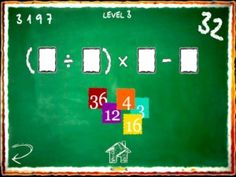 32 HD is based on a simple concept.  Your child is given more number tiles than they need and must arrange them within the mathematical sequence displayed in order to reach the total of 32. You can tap and drag tiles into the empty slots, switch them around, remove them etc. and when the correct total is reached  A timer counts backwards and the longer it takes you to solve the puzzle the lower your score is (it's essentially your timer reading at the end of the level.)