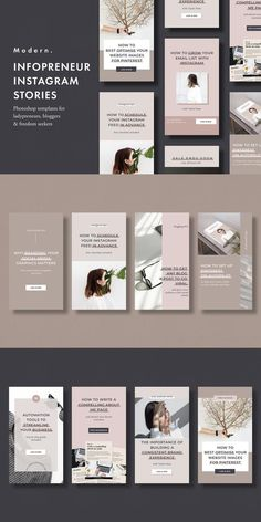 Instagram stories template pack for infopreneurs, bloggers and social media experts. #instastorytemplate #instagramstories #socialmediatemplate #socialpack #instagramquotes #instagrampack #templatesinstagram Instagram Story Template, Instagram Story Ideas, Instagram Quotes, Instagram Feed, Instagram Posts, Instagram Templates, Social Media Branding, Social Media Design, Social Media Graphics
