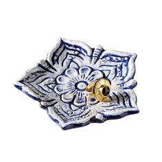 Lotus Eater Tray via Dot and Bo Modern Bohemian, Furniture Collection, Cheap Home Decor, Dot And Bo, Modern Design, Blue And White, Ceramics, Gifts, Tray Decor