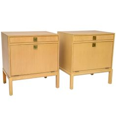 Tommi Parzinger Nightstands   From a unique collection of antique and modern night stands at http://www.1stdibs.com/furniture/tables/night-stands/
