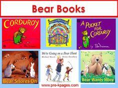Favorite books about bears for preschool, pre-k, or kindergarten via www.pre-kpages.com