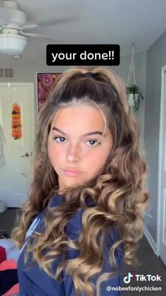 Cute Hairstyles For Teens, Easy Hairstyles For Long Hair, Cool Hairstyles, Curling Wand Hairstyles, Dress Hairstyles, Hair Up Styles, Medium Hair Styles, Natural Hair Styles, Wand Curls