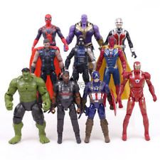 10pcs Avengers Infinity War Thanos Iron Man Vision Captain America Figurine