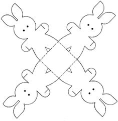 EASTER COLOURING: EASTER BUNNY PAPER CRAFT PRINTABLE ACTIVITY