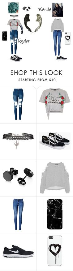 """""""Ryder and Wanda go walk around the city"""" by sarahamilton676 on Polyvore featuring WithChic, River Island, Betsey Johnson, J.Crew, W118 by Walter Baker, Harper & Blake, NIKE and Zero Gravity"""