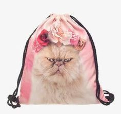Space Cats 3D printing Backpack Women 2016 who cares fashion drawstring bag mochila feminina Travel bags backpacks sac a dos