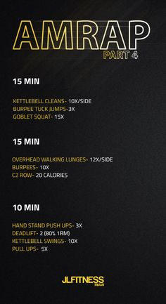 AMRAP Workouts for total body conditioning. #jlfitnessmiami