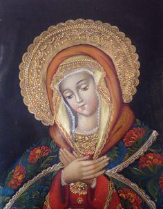 Madonna En venta almuarce2002@gmail.com Óleo certificado por Bellas Artes