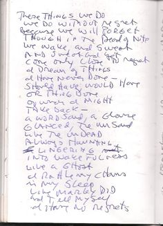 Poems: We do the things we do (scanned notebook)
