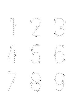 √ Worksheets Trace the Numbers. 2 Worksheets Trace the Numbers. Trace the Numbers Worksheets Printable Preschool Worksheets, Kindergarten Math Worksheets, Number Worksheets, Worksheets For Preschoolers, Printable Numbers, Tracing Worksheets, Printable Coloring, Preschool Writing, Numbers Preschool