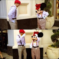 Such a cute pic from Dapper Day at Disneyland!