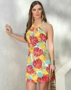 Vestidos Simple Dresses, Cute Dresses, Casual Dresses, Short Dresses, Fashion Dresses, Summer Dresses, Summer Outfit, Girl Fashion, Womens Fashion