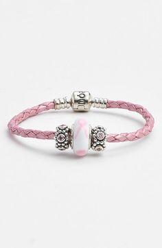 PANDORA Breast Cancer Awareness Charm Bracelet Set available at #Nordstrom