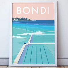 Our location prints feature iconic coastal destinations around Australia. Vintage Surf, Vintage Travel, Vintage Style, Tourism Poster, Travel Posters, Posters Australia, Bondi Icebergs, Beach Posters, Art Prints Online