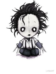 Tim Burton stickers featuring millions of original designs created by independent artists. Scary Drawings, Halloween Drawings, Dark Art Drawings, Halloween Art, Cute Drawings, Arte Horror, Horror Art, Voodoo Doll Tattoo, Arte Emo