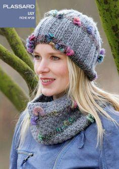 1 pelote   1 bonnet et un snood kit tricot laine lily   Laines par laine 454420f994c