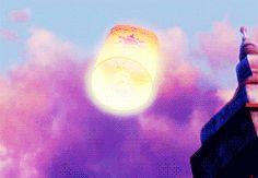The floating lantern.