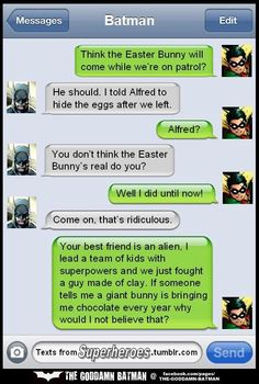 Batman and Robin's Easter Texts