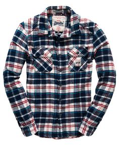 Shop Superdry Mens Milled Flannel Shirt in Ocean Blue Check. Buy now with free delivery from the Official Superdry Store. Neo Grunge, Grunge Style, Soft Grunge, Grunge Outfits, Flannel Outfits, Tokyo Street Fashion, Le Happy, Casual Shirts For Men, Men Casual
