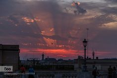 sunset in Rome by AndreaWallner. Please Like http://fb.me/go4photos and Follow @go4fotos Thank You. :-)