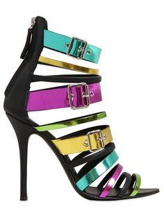 Giuseppe Zanotti 110mm Metallic Patent Leather Sandals in Multicolor | Lyst