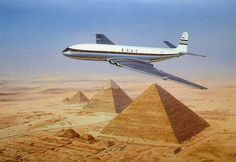 Comet Over Pyramids by Malcolm Root