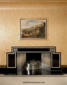 Dining Room fireplace, Eltham Palace J990127 as a Framed 10x8 Print