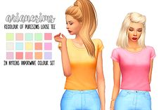 """arianesims: """" PURESIMS loose tee recolour by arianesims """"my first attempt at recolouring something!! i hope you guys like this, i can't wait to recolour other items, so keep a look out..."""