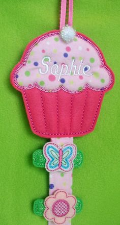 Personalized Hair Clip Holder for Girl's by SANDRAINSTITCHES, $10.95