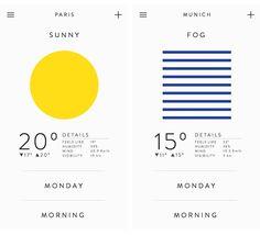 法式極簡的天氣APP介面設計 | MyDesy 淘靈感