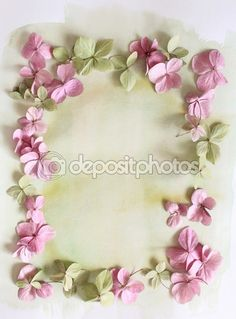 Subtle artistic floral background with hortensia flowers — Stock Photo © Julietart #88145448