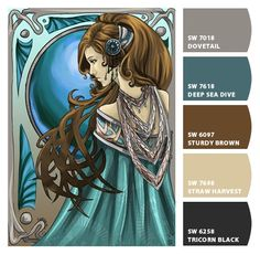 Nouveau. Very akin to my home color scheme. [I use some of these colors, too! Mostly teal, turquoise & chocolate brown!]