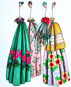 #Mexico #Embroided #Culture #FashionIllustrations @sofies_illustrations  Be Inspirational ❥ Mz. Manerz: Being well dressed is a beautiful form of confidence, happiness & politeness