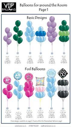 Balloon Decor Price Guide - New Site Balloon Decorations Party, Balloon Centerpieces, Balloon Garland, Birthday Party Decorations, 1st Birthday Parties, Baby Shower Decorations, Balloon Ideas, Balloon Balloon, Balloon Arch Diy