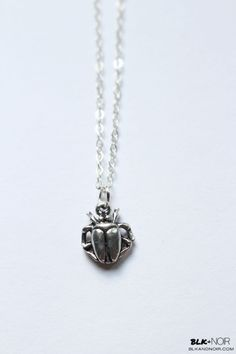 BLK AND NOIR JEWELRY - Silver Plated Egyptian Scarab Beetle Necklace, $22.00 (http://www.blkandnoir.com/gold-plated-egyptian-scarab-beetle-necklace/)