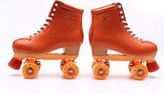 Advantages of Roller Skates for Women Roller Skates Price, Best Roller Skates, Retro Roller Skates, Roller Skate Shoes, Roller Derby, Roller Skating, Outdoor Skating, Orange Leather, Cow Leather