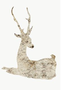 Love the marbleized deer