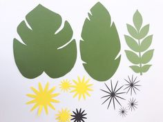 Tropical Leaf templates by paperflora.com