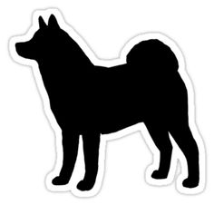 Akita Silhouette Waterproof Die-Cut Sticker