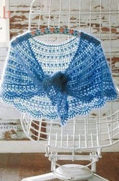 Crochet shawl, free pattern